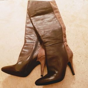 Jessica Simpson Brown Leather/ Suede Boots Sz: 6.5